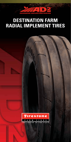 DESTINATION FARM RADIAL IMPLEMENT TIRES