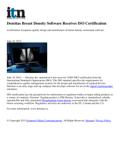 Densitas Breast Density Software Receives ISO Certification