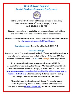 2015 Midwest Regional Dental Students Research Conference