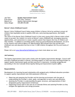 Quality Improvement Coach - Denver Early Childhood Council