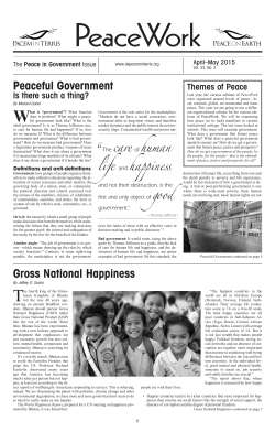 Peaceful Government Gross National Happiness