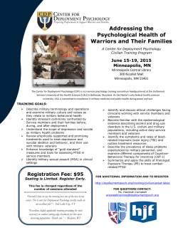 Brochure and Agenda - Center for Deployment Psychology
