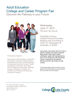 Adult Education College and Career Program Fair