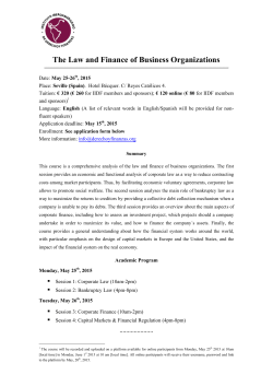 The Law and Finance of Business Organizations