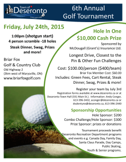 Golf Tournament Details 2015