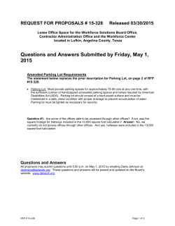 Questions and Answers - Deep East Texas Local Workforce