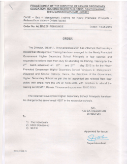 DHSE - Estt Relieved from Order No. Ad.B1 1227 17