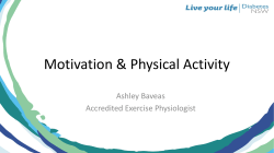 Motivation & Physical Activity