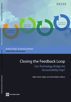 Closing the Feedback Loop: Can Technology