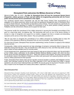 Press Information - Disneyland Paris News