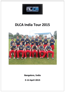 DLCA India Tour 2015 - Darren Lehmann Cricket Academy