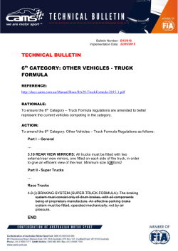 OTHER VEHICLES - TRUCK FORMULA