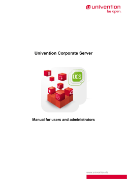Univention Corporate Server - Manual for users and administrators