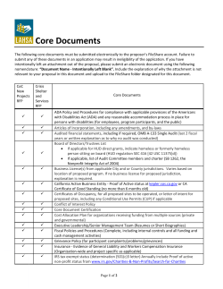 Core Documents - LAHSA Documents