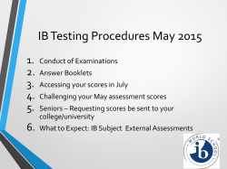 IB Testing Procedures May 2015