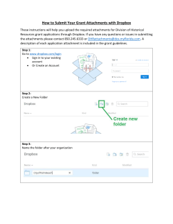 Dropbox Guidelines for Submitting Required Grant
