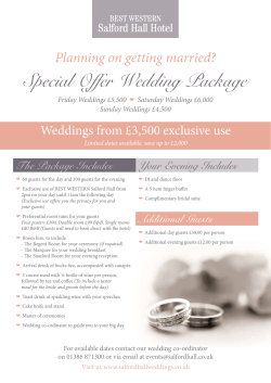 Special Offer Wedding Package