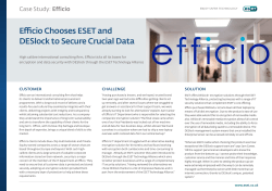 Efficio Chooses ESET and DESlock to Secure Crucial Data