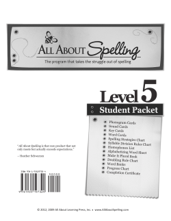 Level 5 - All About Learning Press