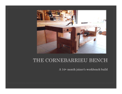 Steps to Build the Cornebarrieu Bench