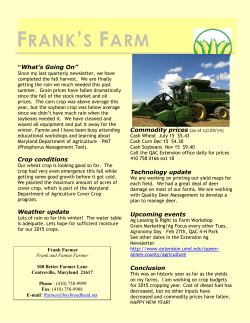 Farmer Newsletter 2015