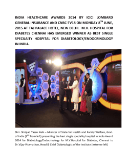 india health care awards 2014 by icici lombard general health