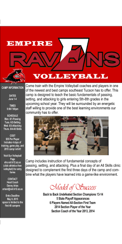Empire Volleyball Camp
