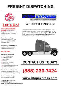 D-TAP EXPRESS FREIGHT DISPATCH is the premier freight