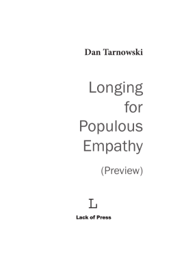 Read 8 of the poems  - Longing for Populous Empathy