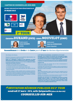 tract de second tour - Christine Durand / Cédric Nouvelot 2015