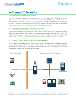 Datasheet: scConnect Security