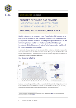 Europe`s Declining Gas Demand Report  June