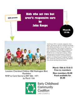 Kids who act two but aren`t: responsive care by John Roope