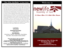 This Week at NLA - New Life Assembly of God