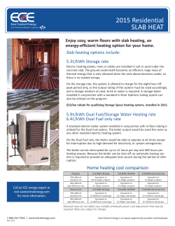 Slab Heat information sheet