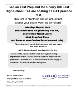 Kaplan Test Prep and the Cherry Hill East High School PTA are