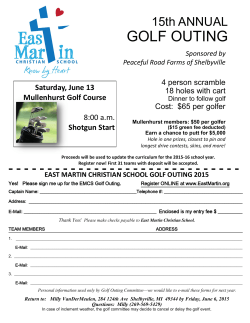 GOLF OUTING - East Martin Christian School