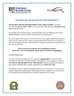 Introducing a Drug Card for Plan Members!