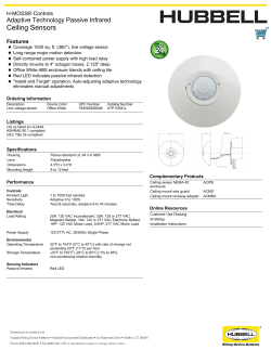 Ceiling Sensors - Hubbell Wiring Device