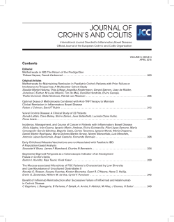 Contents - Journal of Crohn`s and Colitis