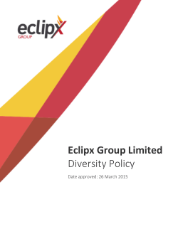 Eclipx Group Limited Diversity Policy