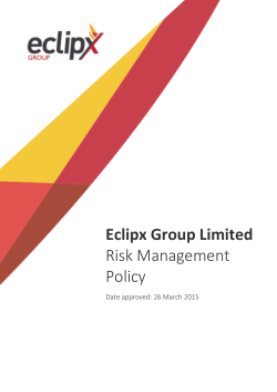 Eclipx Group Limited Risk Management Policy