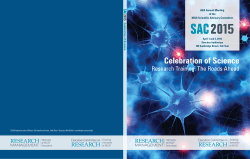 SAC 2015 Celebration of Science Book - ECOR