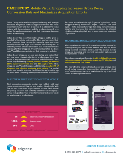 CASE STUDY: Mobile Visual Shopping Increases Urban