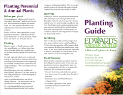 Please click here for our free planting guide