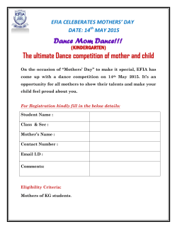 Dance Mom Dance!!! The ultimate Dance competition of