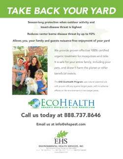TAKE BACK YOUR YARD - Environmental Health Services, Inc.