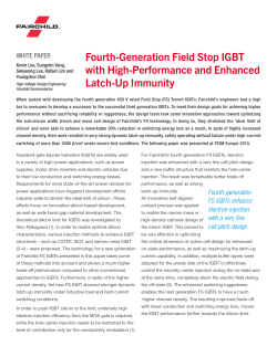 Fourth-Generation Field Stop IGBT with High