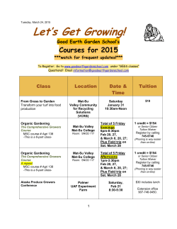 Let`s Get Growing! - Good Earth Garden School