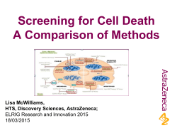 Screening for Cell Death - a comparison of methods